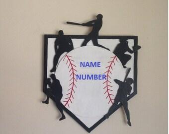 Baseball Player Wall Plaque