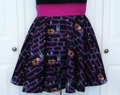 Donkey Kong Arcade Skirt / Custom Made to YOUR size / Gamer Geeky Girl Clothing / Handmade by Skellum Threads