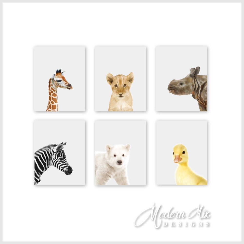 Animal Nursery Prints Animal Nursery Decor Baby Nursery Print
