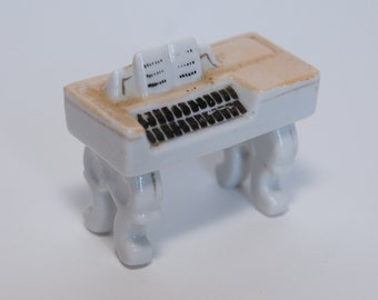 Vintage Porcelain Mini Piano Hand Painted Made in Occupied Japan