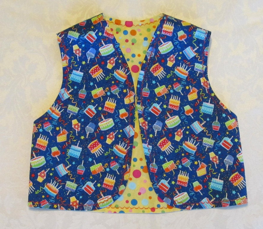 Teacher's Birthday Vest For Preschool Age