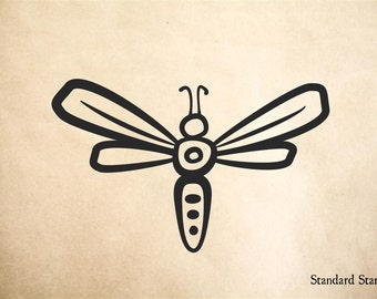 Firefly Cartoon Rubber Stamp - 2 x 2 inches