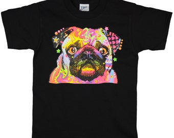 Kids Pug Dog T-Shirt for Kids and Adults (PreSchool, Youth, and Adult Sizes Available)
