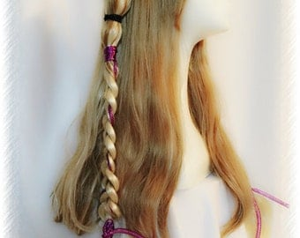 Vocaloid IA Wig Long Blonde Double Braided Golden Blonde Wig Cosplay Hair