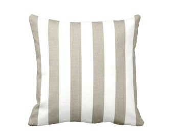 Taupe Throw Pillow Cover Taupe Pillow Cover Striped Pillow Brown Pillow Cover Brown Cushion Cover Oversized Pillows Decorative Pillows