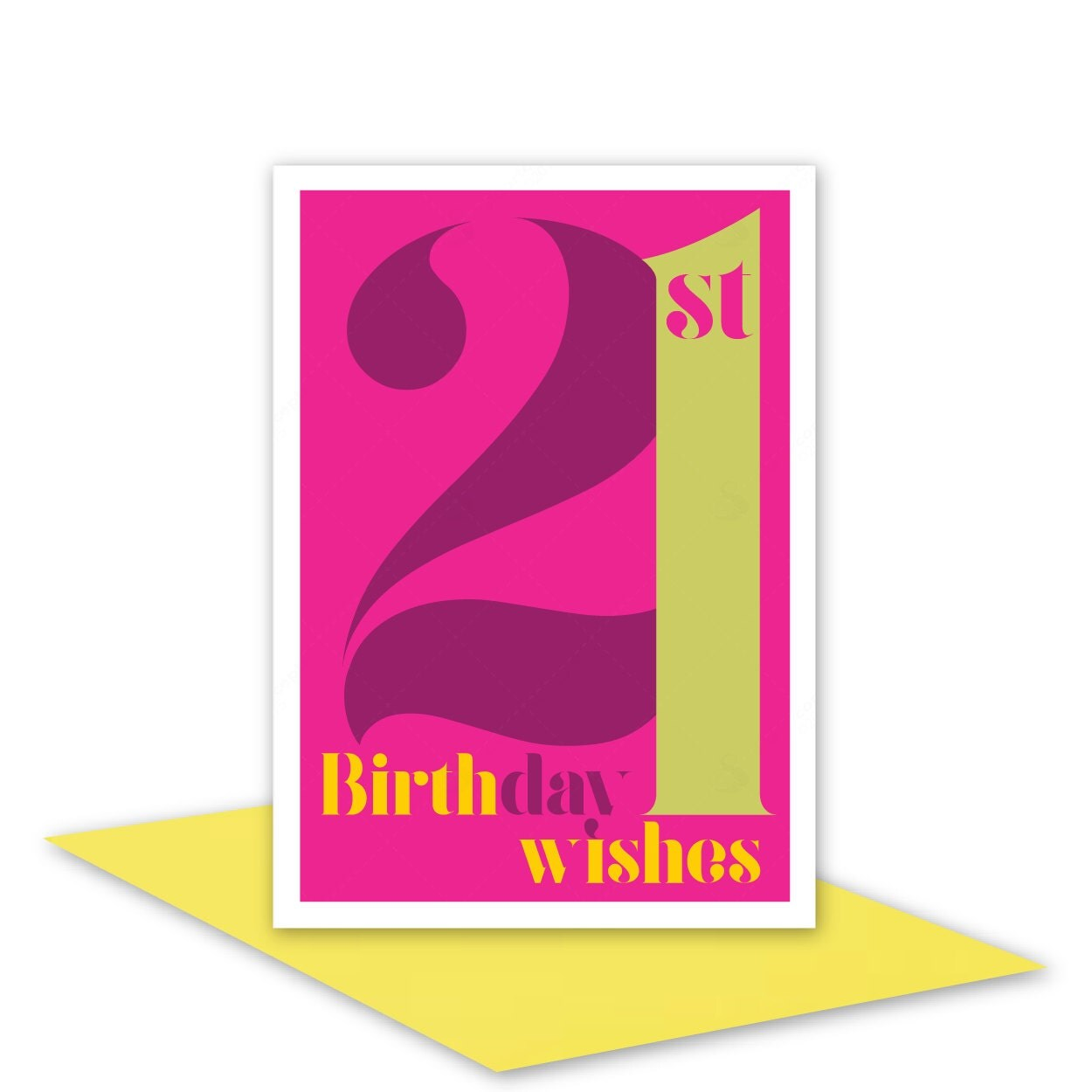 21st Birthday Wishes Card For Her 21 Happy By StuARTconcepts