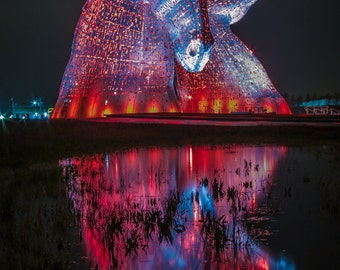 Red and Blue Kelpies