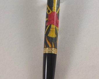 Inlay Wooden Firefighter Pen