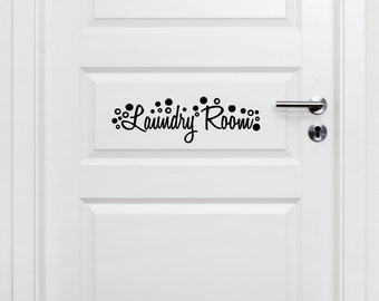Laundry Room Door Decal-Laundry Room Decor, Laundry Room Decal, Laundry Room Decoration