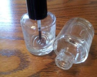 6 Nail Polish Bottles - 15 ml or .5 oz - Brush and Cap Included
