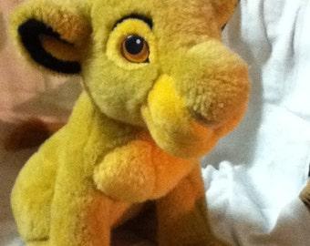 Vintage Disney Store Simba soft toy Lion - The Lion King