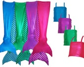 Mermaid Tails for girls. Walkable and Swimable. Don't forget your MONOFIN!.