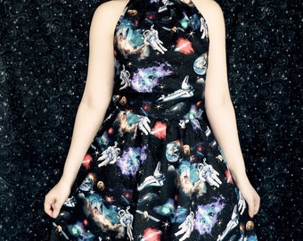 Galaxy astronaut dress.