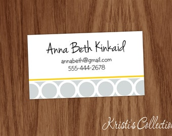 Personalized Calling Cards Stickers, Personal Business Mommy Cards, Custom Gift Inserts Enclosure Cards, Geometric Shaped Cards