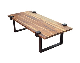 Reclaimed Teak Coffee Table, Beautifully Handcrafted