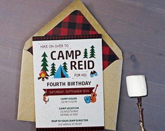 DIY Kid's Camp Birthday Invite