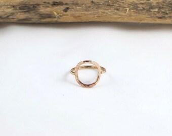 14k Gold Circle Ring
