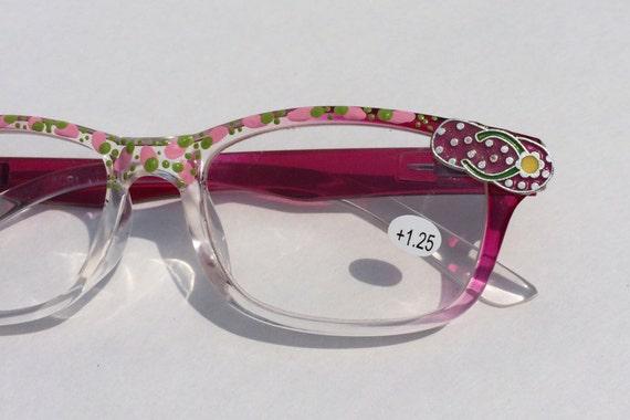 flip flop reading glasses 1 25 s painted