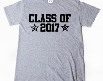 Class Of 2017 T-shirt Funny Hilarious Cool Senior 2017 Graduation School Tee