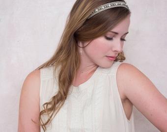 Swing Earrings - Silver - Swarovski Pearl And Chain