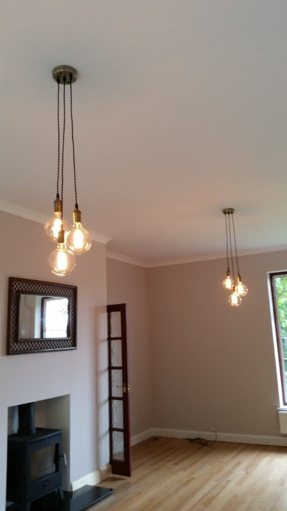 3 Cluster Any Colors Multi Pendant Hanging Light Edison Bulb