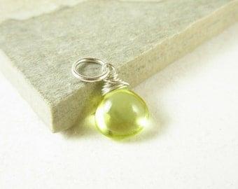 Sale - Lemon Yellow Quartz Pendant - Bright Yellow Jewelry - Wire Wrapped Jewelry Handmade - Natural Gemstone Pendants - Sterling Silver Cha