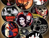 Vintage Horror Movie Posters - 20mm, 18mm, 16mm, 14mm, 12mm circles - Printable Digital Downloads for Jewelry Making, Crafts CG-945