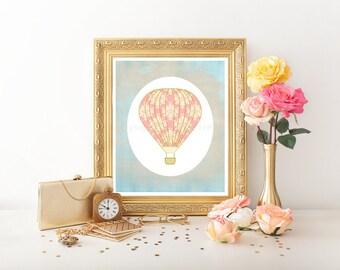 Hot Air Balloon Nursery, Hot Air Balloon Decoration, Hot Air Balloon Printable, Hot Air Balloon Decor, Hot Air Balloon, Hot Air Balloon 0214