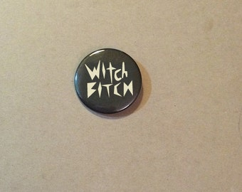Witch B Pinback Button