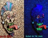 Tripp the Zombie Hat Pin by Undead Ed Glows in the Dark