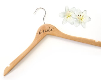 Bride Hanger Bridesmaid Hangers Wedding Hangers for Wedding Day Accessories (Item - HNG100)