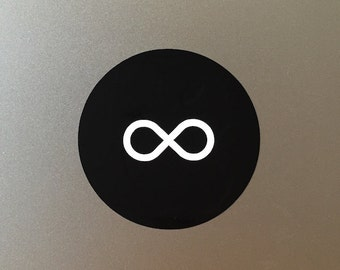 Infinity vinyl decal/sticker for Macbook Air & Pro