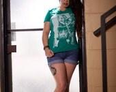 t-shirt, evergreen t-shirt, occult, green t-shirt, mindfulness, womens green tee, psychedelia, graphic tees, womens t-shirt, S-XL