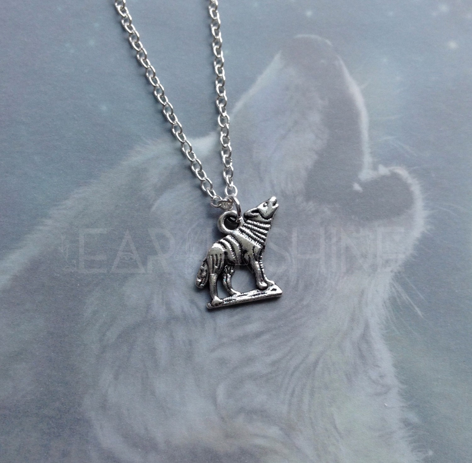 wolf necklace animal totem spirit necklace wiccan witch