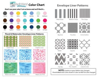 Envelope Liners for Wedding Invitations, Save the Date Cards and Rehearsal Dinner Invitations (Sets of 10)