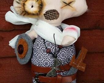 Clumsy Thomas, The Viking, cloth doll