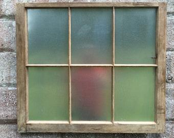 Reclaimed vintage 6 pane window frame