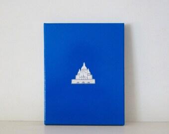 SACRE COEUR - REDUCED - Sacre Coeur Painting - Blue Parisian Decor - Montmartre Painting - Sacre Coeur Paris Drawing - Sacre Coeur Print