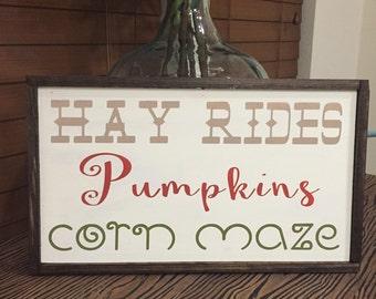 Hay ride sign