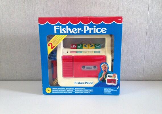 poste lecteur audio cassette vintage fisher price rare boite. Black Bedroom Furniture Sets. Home Design Ideas