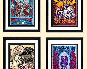 LARGE Grateful Dead Poster Set Highest Quality Framing & Prints 18X24