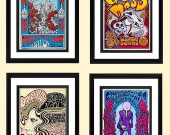 Unique Grateful Dead Poster Set Highest Quality Framing & Prints