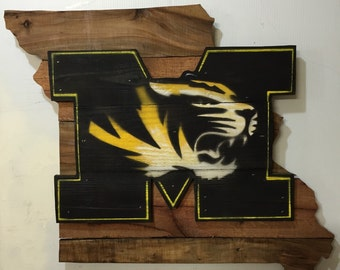 University of Missouri Tigers Mizzou Wooden Wall Sign
