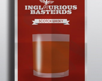 Movies drink's Inglorious Basterd's. Limited Posters: One movie - one drink / Printing, 250G paper