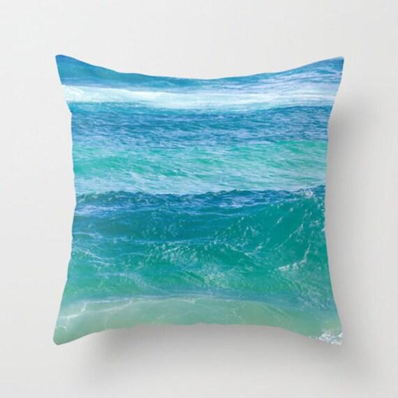Deep Blue Throw Pillows : Decorative Throw Pillow Cover cotton Hawaiian deep teal