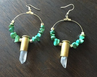Bullet crystal earrings