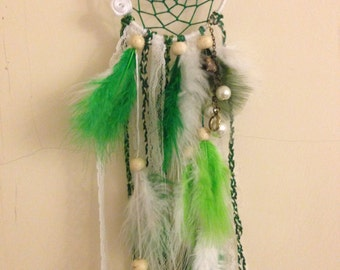 White & Green Dreamcatcher