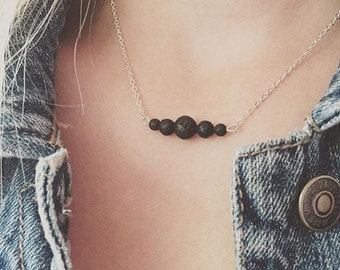 02 - Lava Aromatherapy necklace // variation beads