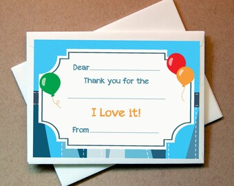 Boys Birthday Thank You Cards (20 cards and envelopes)