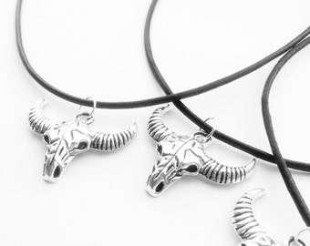 Large Bull Head Choker or Necklace - Horns